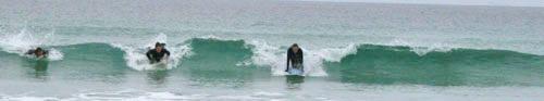 Surfing at Balevullin